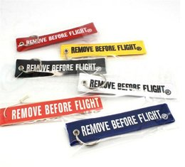 Wholesale Aviation Remove Before Flight Airbus keyring Airbus Embroidered Key Ring x cm top selling