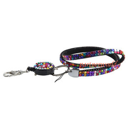 DHL Fedex Free Shipping 200pcs Bling Crystal Rhinestone Lanyard With Retractable Reel For ID Badge Holder Lanyard