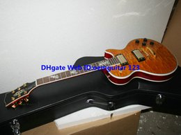 Custom Shop Beauty Orange Electric Guitar Gold Hardware High Quality Musical instruments