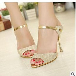 Wholesale Summer High Top Sandals - 2015 Hot Summer Women sandals high-heeled woman dress shoes open toe peep toe sandal for lady in Top quality Cheap price