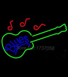 Signes de cow-boy à vendre-825 Blues Guitare Neon Sign Avize Lampe Dallas Cowboys Neon Signes Real GlassTube Artisanat Commercial Neon Sign Cadeaux 30 * 20