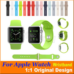 Wholesale 1 Original Design Silicone Strap Soft Rubber Watch band Colorful Wristband replacement watchband for Apple Watch mm mm DHL