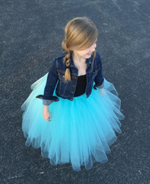 Flower Girl Tutu skirts Long Tulle Skirt Girls Ball Gown Dresses Petticoat custom made Any Color any size