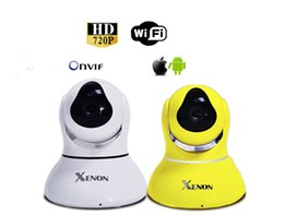 Wholesale WiFi IP Camera Night view range m IR cut built in Dual Audio Pan Tilt With TF Micro SD Memory Card Slot Free Iphone Android App Software