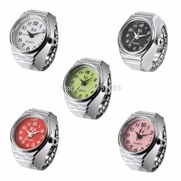 Wholesale-2015 Fashion Creative Lovely Ladies Watch Simple Quartz Finger Ring Circular Dial Pattern Ring Watch Women