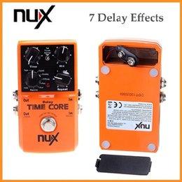 Guitares jacks à vendre-Nux Guitare Effet Pedal Time Core True Bypass Flexible I / O Jacks Détecter les connexions stéréo et mono 20pcs / lot via DHL