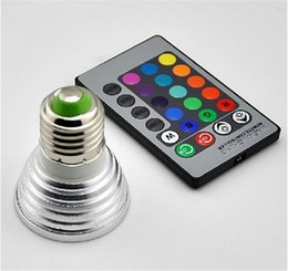 3W LED RGB Bulb 16 Color Changing 3W LED Spotlights RGB led Light Bulb Lamp E27 GU10 E14 MR16 GU5.3 with 24 Key Remote Control 85-265V & 12
