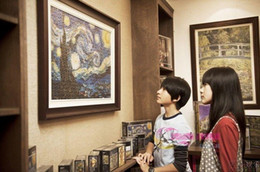 Wholesale-free shipping 63154-1 the famous painting of world puzzle 2000pcs oil painting puzzles paper puzzles