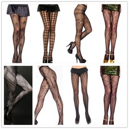 Wholesale 2015 New Fashion Womens Sheer Lace Tights Sexy Black Stockings Long Silk Lace Stocking Tattoo Design Pantyhose Leggings Stockings