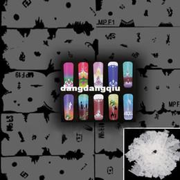 Wholesale-407-Free Shipping 20pcs set Nail Paint Painting Template For Nail Art Airbrush Paint Tool NA397