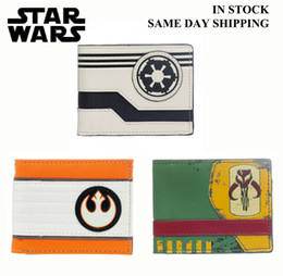 Wholesale star wars wallet Mandalorian Rebel Allianc Galactic Empire luxury wallet casual short designer card holder wallets for men star wars wallet