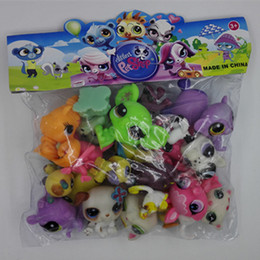 Wholesale New Lovely Designer Littlest Pet Shop Cute Cat Dog Animal Figures Collection Random Child Toy