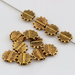 Wholesale Hot Sale pcsAntique Gold Gear Wheel Spacer Beads x10mm DIY Jewelry