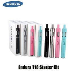 100% Original Innokin Endura T18 T18E Starter Kit 1000mAh 14W Battery 2.5 2.0ml Top Fill Atomizer Glass Tank Gift Box