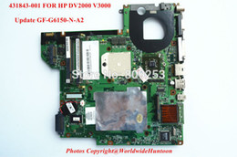 Wholesale Original Update Video card for HP DV2000 V3000 AMD laptop motherboard NF G6150 N A2 DDR2 Fully Tested amp