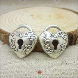 Charms Antique Plated Silver Zinc Alloy Love Lock Fit Pendant Bracelet Necklace DIY Jewelry 150pcs lot