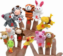 Wholesale 2000pcs Finger Puppet Plush Toys Baby Zodiac And Famliy Plush Lovely Play Learn Animal Story Toy Cute Cartoon Finger Doll Kids Toys