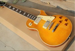 Wholesale New highest quality custom paul Tiger Flame Maple top Electric Guitar in stock