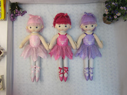 Wholesale JX3601 ballerina dolls cute dancing for girls plush dolls toys by inch inch inch