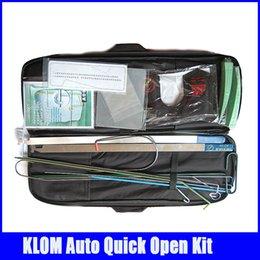Wholesale KLOM brand Big Car Door Openning Tools Kits Bag Locksmith Tools high quality hot sale popular