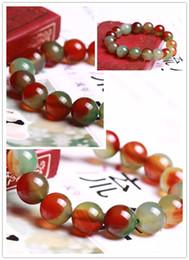2017 lien pour perles Agate Bangle Bracelet Lien Bracelets stretch Slippy Multicolor Agate Gems Perles rondes Bracelet Mode féminine élégante élastique et saine Br lien pour perles à vendre
