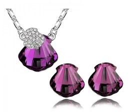 Wholesale fashion jewelry sets Austrian crystal earrings necklace Drunk exquisite
