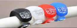 1000pcs 2 LED Bicycle Cycling Light Red Blue White LED Lamp Silicone Rear Wheel Waterproof Safety Bike 2 LED Lights DHL Free #01