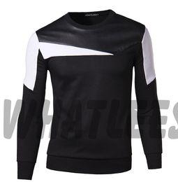 Mens Clothing Fashion Splicing Fleece Clothes Korean Style Men Leisure Sweatshirts Fashionable Men's Clothing Sports Jacket Hoodies For Men