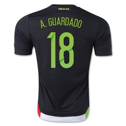 Mexico 2015 A. GUARDADO Home Soccer Jersey,Customized Thai Quality Soccer Jersey ,Cheap Mexico Jersey Shirts for Sale,Soccer Jersey Discount