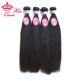 Queen Hair Products Malaysian Virgin Human Hair Weave Straight Virgin Hair Extension 1B Can Dye Free Shipping