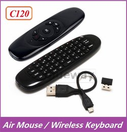 Wholesale 10X C120 Keyboard Mini Wireless QWERTY Air Mouse Remote Control Game Controller For Android TV Box PC MXQ M8S T8 T95 Pro Plus