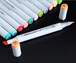 Newest second generation finecolour marker pens FINECOLOUR pen Sketch Hand-painted art painting pens total 160colors free gift bag pen bags