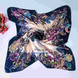 New 2015 Women Scarf Fashon Satin Square Scarves For Women 100% Polyester 90*90cm JIA400