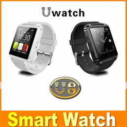Wholesale Bluetooth Smartwatch U8 U Watch Smart Watch Wrist Watches for iPhone Samsung Note HTC Android Phone Smartphones DHL Free JBD U8