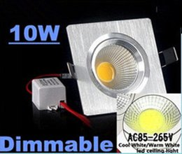 Wholesale 30 Discount High Power W LM Led Recessed Downlights AC V Dimmable Led Spot Down Lights Angle Warm Natrual Cold White