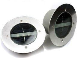 Wholesale Solar Underground Light LED Solar Light Waterproof Underground Lamps Round Floor Lighting Outdoor Garden Road Decoration Energy Saving