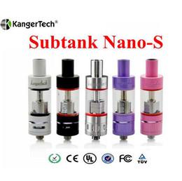 Kangertech Subtank Nano S Atomizer Kanger Sub Ohm Tank For Subox Nano KBOX Nebox starter kits vapor mods e cigs