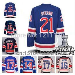 Wholesale Stanley Cup Final New York Ranger Hcokey Jersey Ice Sean Avery Derek Stepan Brandon Dubinsky Brendan Shanahan