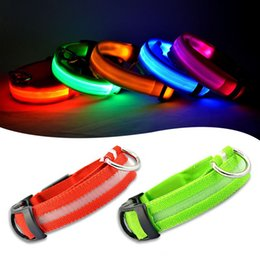 Wholesale Hot Sale Pet Shop Pet Dog Collars For Dogs Pets Cats Glow Led Collars Productos Para Mascotas Cat Collar Dog Coller Led