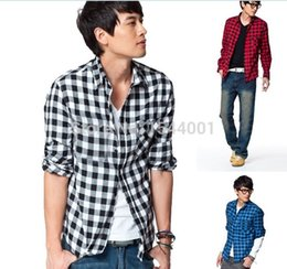 Free shipping 2014 New Arrival Long Sleeve Plaid For Men Fashion Slim Style (Without The T-shirt) Drop Shipping