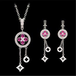 Simple Necklace Earrings Jewelry Sets Fashion Austria Crystal Wedding Jewelry Set Fine Women Zircon Jewelry CAL21087I
