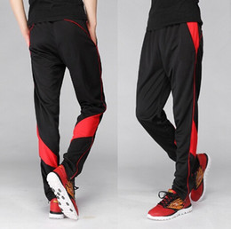 Wholesale-Fall 2015 new football pants tight pants leg movement men and women running bike foot training pants