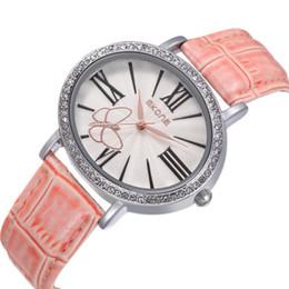 SKONE Luxury Women Genuine Leather Strap Watches With Rhinestone Women Fashion Wristwatches Japan Quartz Birthday Gift