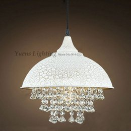 Wholesale Wrought Iron Crystal Pendant Lamps Dining room Bedroom Advocate Lighting Fixtures Home Outfit Villa YSLD198 order lt no track