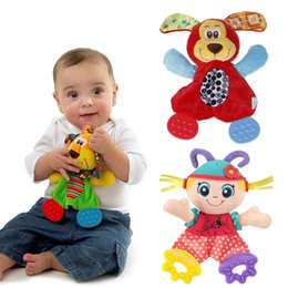 Wholesale Cute Lion Mouse Girls Baby Toys Learning amp Education Soft Toy with Teether and Ring Paper suit for Months