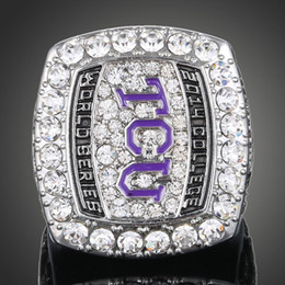MLBbaseball Ring 2015 TCU TexasChristianUniversity Horned Frogs baseball fans Ring championship rings free shipping