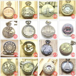 Wholesale Nostalgic vintage Pocket watch necklace Exclusive antique chic elegant NECKLACE WATCH AAA