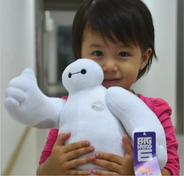 Wholesale 30cm High Quality Arm can transport Big Hero Baymax Stuffed Plush Toy Robot Doll Soft Baby Classic Christmas Toys for Kids Children