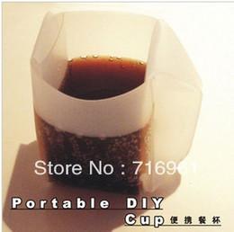 Latas de papel en Línea-Wholesale-3pcs / lot DIY taza que viaja / taza de comida plegable, se puede doblar como un papel, artículos de la novedad del envío libre