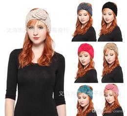 Wholesale Fashion Womens Crochet Beanies Hat Ladies Warm Headbands Head Wrap Turban Bandanas Hats hair accessories Winter Autumn headwear WHA38